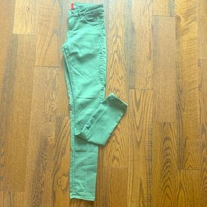Divided H&M Green Jeans Size 8 Ankle Skinny Medium